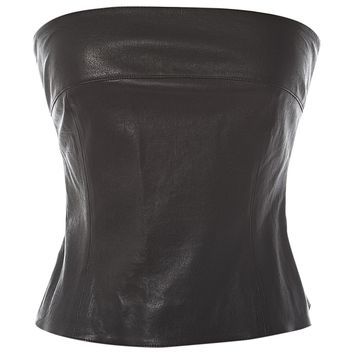 Leather top CHANEL Black