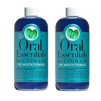 Oral Essentials Mouthwash for Fresher Breath, Dentist Formulated, Alcohol Free, Sugar Free with NO Dyes, Preservatives or BPA. Non Toxic (Great Tasting and No Burning or Stinging) 16 Oz.