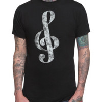 Distressed Treble Clef T-Shirt