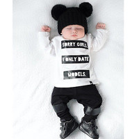 Cute Kids Baby Boy Clothes Tops T-shirt+Pants Trouser 2pcs Outfits Set Costume