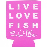 Live Love Fish Salt Life Can Koozie