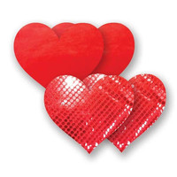Nippies® Moulin Red Heart Pasties Moulin Heart Pasties Red A-DD