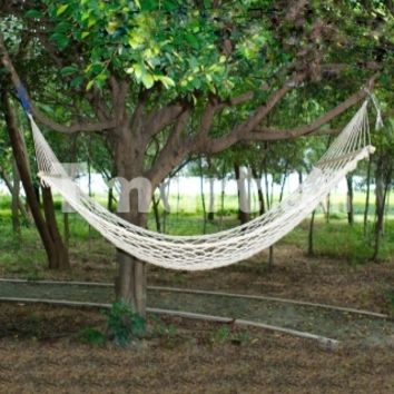 Outdoor Camping Leisure Cotton Rope Hammock 67.72 x 42.91 inch