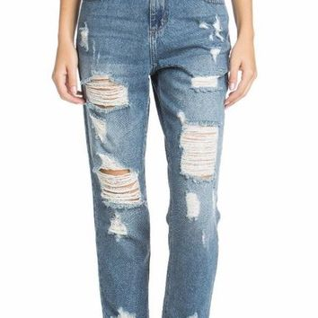 Tilly Super High Rise Destroyed Boyfriend Jean