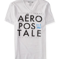 Aeropostale  Stacked Aero V-Neck Graphic T