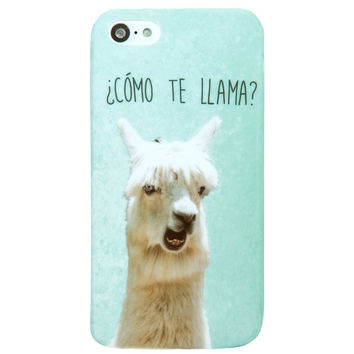 Mint Multicolor Como Te llama Humor Sayings iPhone 5C/S/5 case