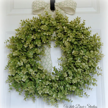 Eucalyptus Wreath, Fall Wreath, Greenery Wreath, Front Door Wreath, Year Round Wreath, All Season Wreath, Indoor Wreath