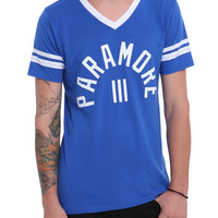 Paramore Blue & White Athletic T-Shirt