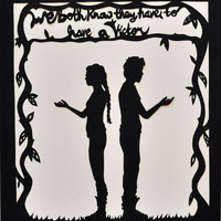 We Both Know Hunger Games Paper Cut by italsma on Etsy