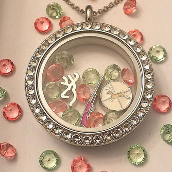The Huntress Locket-Creatively Crafted Floating Lockets-The Copper Closet-FREE Domestic Shipping!