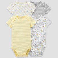 Baby 4pk Bodysuit Set - Just One You® made by carter's Yellow 3M