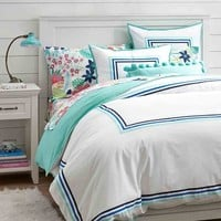 Ribbon Stripe Duvet Cover + Sham, cool