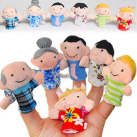 Hot Sale New 6pcs Cute Family Reunions Harmony Cloth Finger Puppets Plush Doll Baby Educational Hand Toy Gift (Size: 7cm by 3cm, Color: Multicolor) [9303712138]