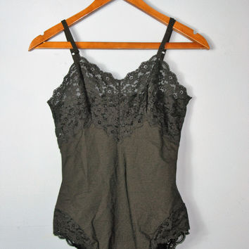 Vintage Circa 1990 La Perla Lace Accented Bodysuit It 4/US 38-XL/L