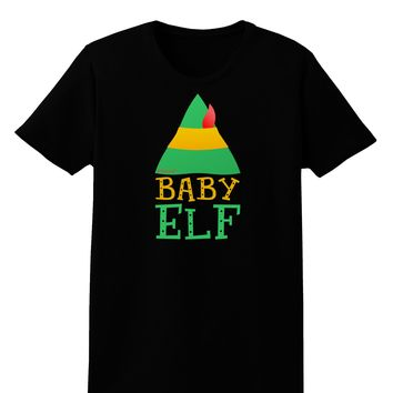 Matching Christmas Design - Elf Family - Baby Elf Womens Dark T-Shirt by TooLoud