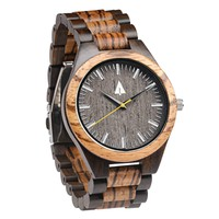 All Wood Watch // Zebrawood + Ebony 31 Gold