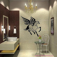Pegasus Flying Horse Bathroom Decor Nursery Wall Art Sticker Decal Ar426