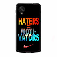 Nike Haters Motivation Nebula Galaxy FOR NEXUS 5 CASE *NP*