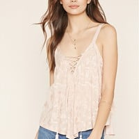 Contemporary Lace-Up Top   Forever 21 - 2000152803