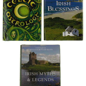Lof of 3 Irish Blessings Myths Legends Celtic Astrology Mini Books St Patricks