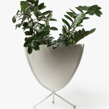 Hip Haven / Short White Stand - White Bowl