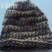 Earth Toned Toddler Hat from Melli's Yarn Works