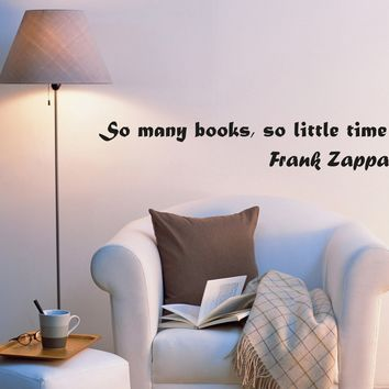 Wall Decal Lettering Inspirational Words of Wisdom Books Vinyl Sticker (ed1070) (22.5 in X 4 in)