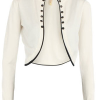 White crop button cardigan - Knitwear & Cardigans - Clothing - Dorothy Perkins