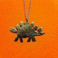 Supermarket: Stan the Stegosaurus Necklace from Metal Sugar