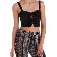 Corset-Laced Bustier Crop Top by Charlotte Russe