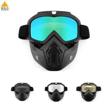 Men Women Dust-proof Cycling Bike Full Face Mask Windproof Winter Warmer Scarf Bicycle Snowboard Ski Masks with Anti-UV glasses