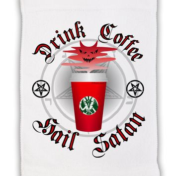 """Red Cup Drink Coffee Hail Satan Micro Terry Sport Towel 11""""x18 by TooLoud"""