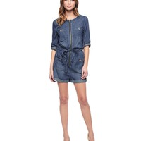 Indigo Woven Romper by Juicy Couture