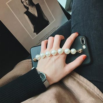 Luxury Pearl Chain Phone Case for iPhoneX 8 7 7plu