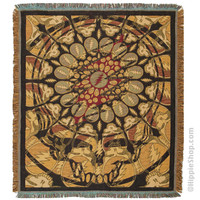 Grateful Dead - Steal Your Face Psychedelic Throw Blanket on Sale for $59.99 at HippieShop.com