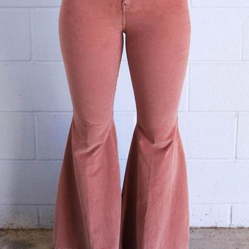 Free People Just Float On Cord Flare - Rose