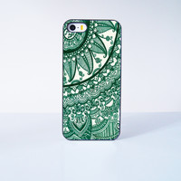 Green Mandala Plastic Case Cover for Apple iPhone 5s 5 6 Plus 6 4 4s  5c