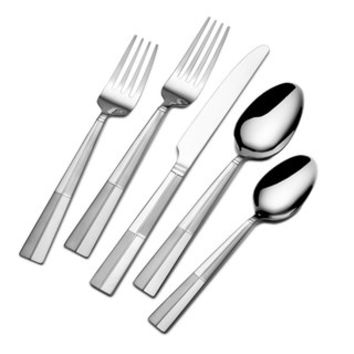 Pfaltzgraff Everyday Arabesque Frost 45-pc. Flatware Set with Caddy | null