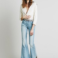 Free People Womens Isabelle Embroidered Flare