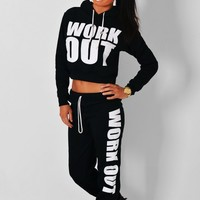 Slimnastics Black Lounge Pants | Pink Boutique