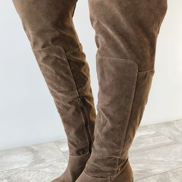 Let's Get Lost Boots: Taupe