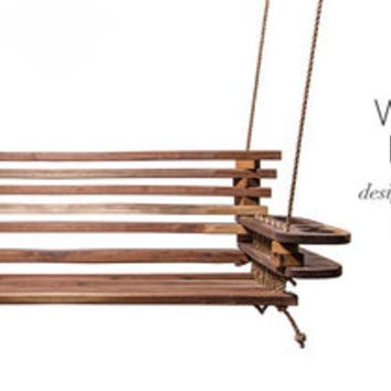 Walnut & Rope Bench Swing