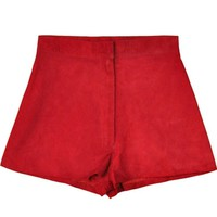 All That Remains Fire Red Suede Short