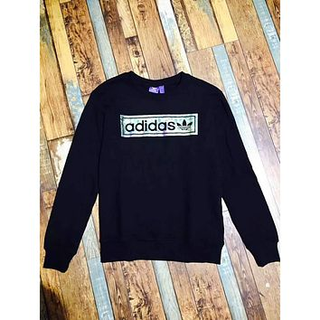Adidas fine cotton really sweater men and women with the paragraph    F-A-XYCL