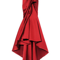 Strapless Embroidered Duchess Satin Gown by Marchesa for Preorder on Moda Operandi
