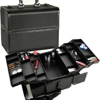 Seya All Black Pro Makeup Case with Trays
