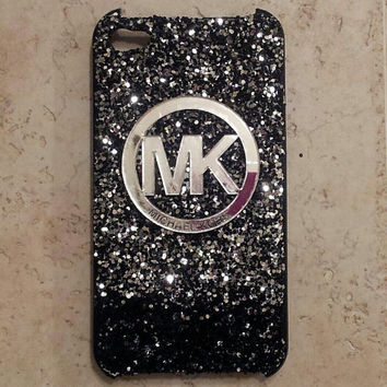 MK glitter iPhone 4 4s case by Fancyycustoms on Etsy