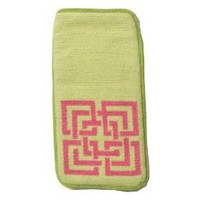 Trina Turk for Peking Handicraft Shanghai Links 3-3/4 by 7-Inch Needlepoint Eyeglass Case, Pink...