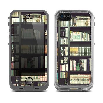 The Vintage Bookcase V2 Skin for the Apple iPhone 5c Fre LifeProof Case