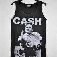 John R. Johnny Cash Show His Mid Finger The Man by Parleywingcal